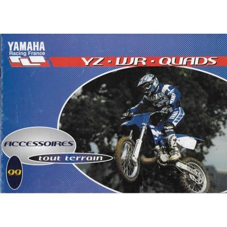 Catalogue gamme YAMAHA accessoires tout-terrain de 1999