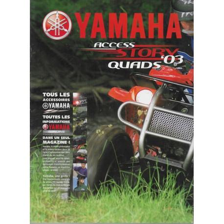 Catalogue gamme accessoires YAMAHA saison 2003