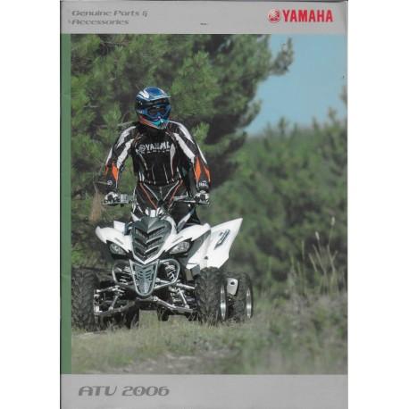 Catalogue gamme accessoires quads YAMAHA de 2006