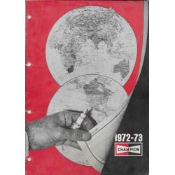 Catalogue bougies CHAMPION de 1972-73