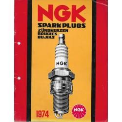 Catalogue bougies NGK de 1974