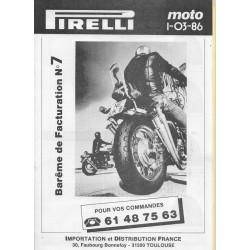 Catalogue pneus PIRELLI (03 / 1986)