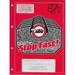 Catalogues plaquettes de frein SBS (10 / 1987)