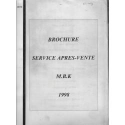 Brochure S.A.V MBK de 1998 (D'IETEREN SPORT)