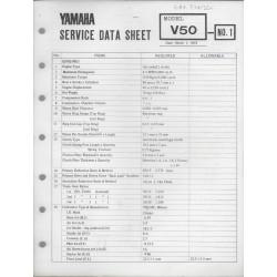 YAMAHA V 50 (fiche technique 01 / 03 /1973)