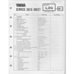YAMAHA L2G (fiche technique 01 / 03 /1973)