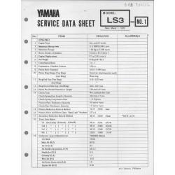 YAMAHA 100cc LS3 (fiche technique 01 / 03 /1973)