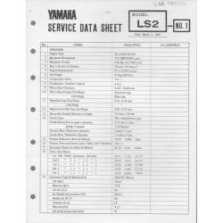YAMAHA 100cc LS2 (fiche technique 01 / 03 /1973)