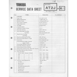 YAMAHA 125cc AT2 J (fiche technique 01 / 03 /1973)