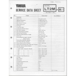 YAMAHA 100cc LT2 M (fiche technique 01 / 03 /1973)