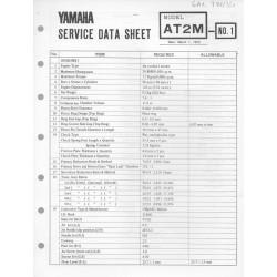 YAMAHA 125cc AT2 M (fiche technique 01 / 03 /1973)