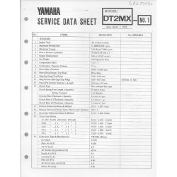 YAMAHA 250cc DT2 MX (fiche technique 01 / 03 /1973)