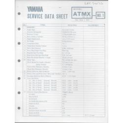 YAMAHA 125cc MX (fiche technique 01 / 03 /1973)