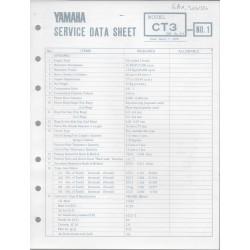 YAMAHA 175cc CT3 (fiche technique 01 / 03 /1973)