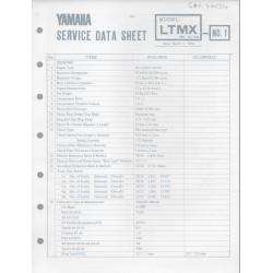 YAMAHA 100cc LT MX (fiche technique 01 / 03 /1973)
