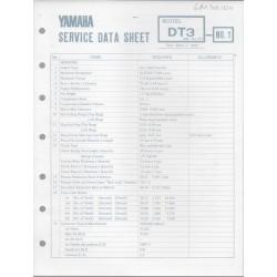 YAMAHA 250cc DT3 (fiche technique 01 / 03 /1973)