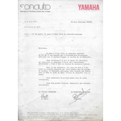 Notes techniques YAMAHA 1977 à 1980 inclus