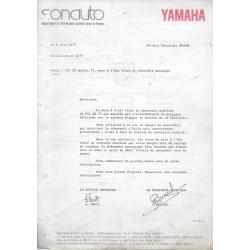 Notes techniques YAMAHA 1977 à 1980 inclus