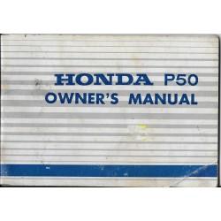HONDA P 50 (manuel du conducteur mai 1967)