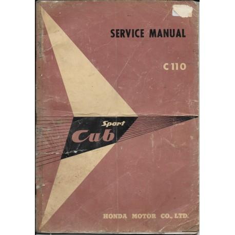 HONDA C 110 (manuel atelier en anglais)