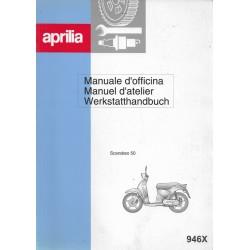 APRILIA Scarabeo 50 (manuel atelier 09 / 1999)