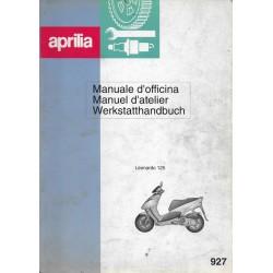 APRILIA Léonardo 125 (manuel atelier 09 / 1996)