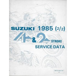 Manuel technique SUZUKI 4 et 2 temps 1985 (2 / 2) en anglais