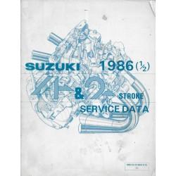 Manuel technique SUZUKI 4 et 2 temps 1986 (1 / 2) en anglais