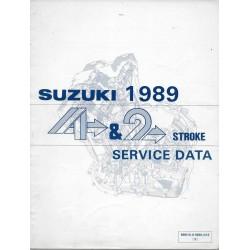 Manuel technique SUZUKI 4 et 2 temps 1989 (en anglais)