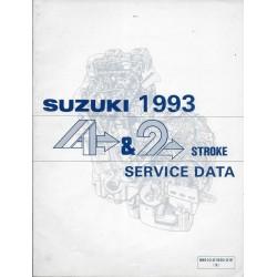 Manuel technique SUZUKI 4 et 2 temps 1993 (en anglais)