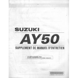 Manuel atelier additif SUZUKI AY 50X /WX/WRX de 1999 (12 / 1998)