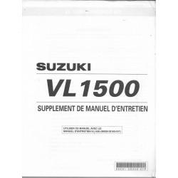 Manuel atelier addiif SUZUKI VL 1500K2 modèle 2002 (11 / 2001)