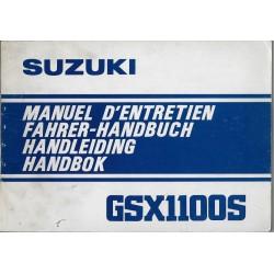 SUZUKI GSX 1100 SZ modèle 1982 (manuel utilisateur)