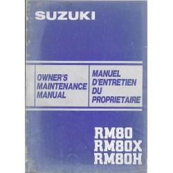 SUZUKI RM 80 H modèle 1983 (01 / 1983)