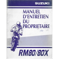 SUZUKI RM 80 / 80 X modèle 1999 (07 / 1998)