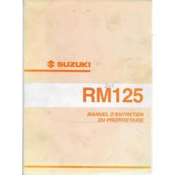 SUZUKI RM125 K2 modèle 2002 (06 / 2001)