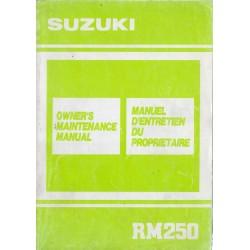 SUZUKI RM 250 L modèle 1990 (08 / 1989)