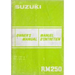 SUZUKI RM 250 D modèle 1983 (09 / 1982)