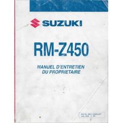 SUZUKI RM-Z 450 K7 modèle 2007 (07 / 2006)