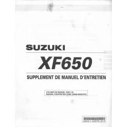 Manuel atelier additif SUZUKI XF 650 Y de 2000 (10 / 1999)