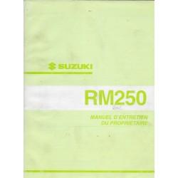 SUZUKI RM 250 K2 modèle 2002 (06 / 2001)