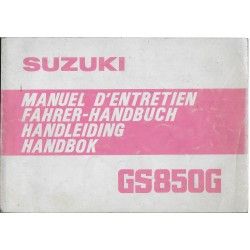 SUZUKI GS 850 G (T) de 1980 (manuel utilisateur 08 / 1979)