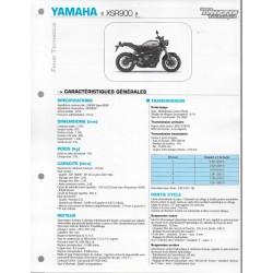 YAMAHA XSR 900 de 2016 (Fiche RMT)