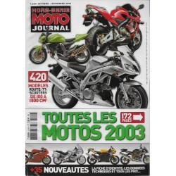 MOTO JOURNAL toutes les motos 2003