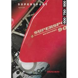 DUCATI 900 SL / 900 SS / 750 SS / 600 SS de 1995