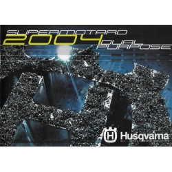 Catalogue gamme motos HUSQVARNA de 2004