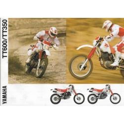 Prospectus YAMAHA TT600 / TT350 (1990)