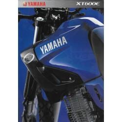 Prospectus YAMAHA XT 600 E 2002