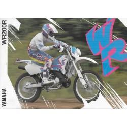 Prospectus YAMAHA WR 200 R de 1993