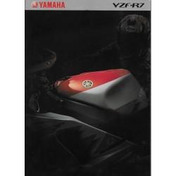Prospectus YAMAHA YZF-R7 de 1999